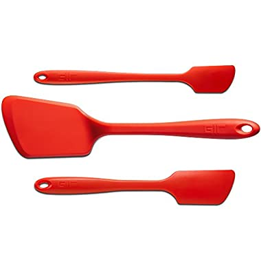GIR: Get It Right 3 Piece Premium Silicone Spatula Set, Red