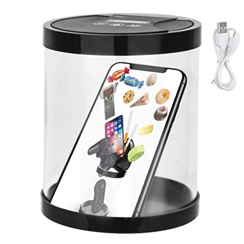 タイムロッキングコンテナ 禁欲ボックス 電池が必要 禁煙/減煙サポート スマホ依存対策 砂糖依存対策 欲望コントロール ダイエット 健康管理サポート カウントダウン機能付き 収納ボックス DC2.0電源コード付き BPAフリー(ブラック)