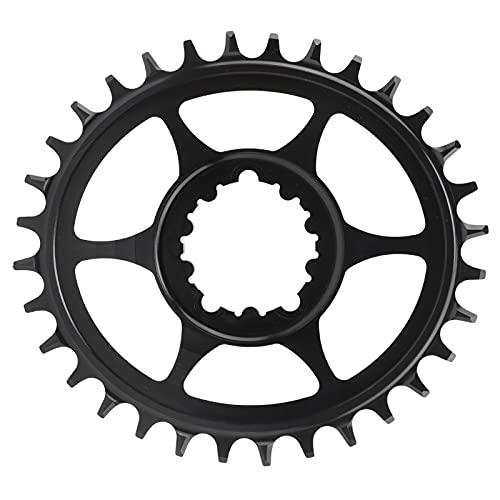 Alomejor Plato de Bicicleta Integrado 32T Bicicleta Disco de Diente Positivo y Negativo Pieza de Disco de Engranaje de Bicicleta(6 mm)
