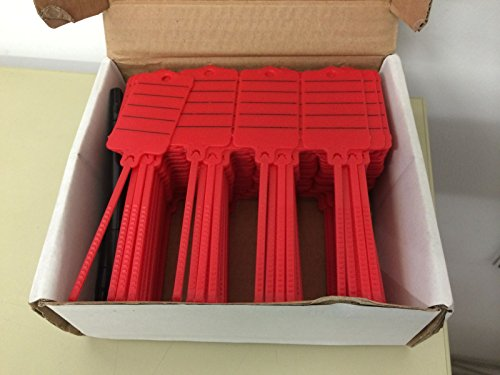 200 KFZ Werkstatt Schlüsselanhänger versch Farben mit Marker Profiware von MD (Rot)
