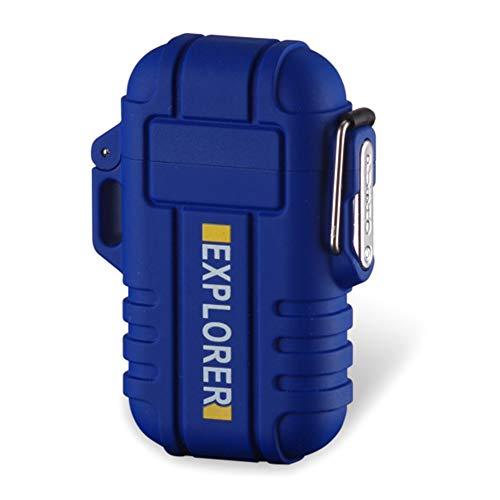 Yeleo Trosetry Mechero, Dual ARC Lighter, USB Recargable, sin Llama, Resistente al Agua, Plasma de mechero, acoplador de Fuego Starter para Senderismo, Viajes, Cocina de Gas, Barbacoa
