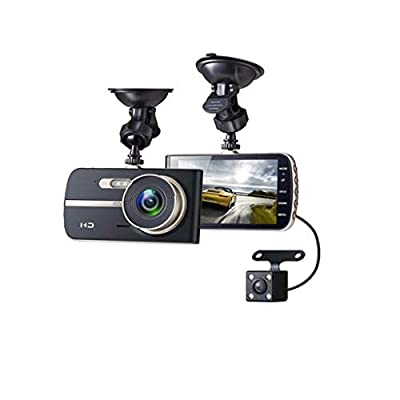 XIANWEI Double Lens Sprint Camera,Car Driving Recorder,Driving Video Recorder Night Vision Car Dashboard Camera,2-inch HD Screen by XIANWEI