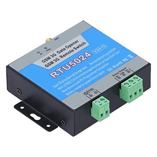 (RTU5024) 3G/GSM Gate Opener, GSM Remote Switch, Door Opener with GSM Dial Control, Smart Garage Door Opener, Remote Access Control Switch Controller with Antenna, Compatible with Alexa/Google(EU)