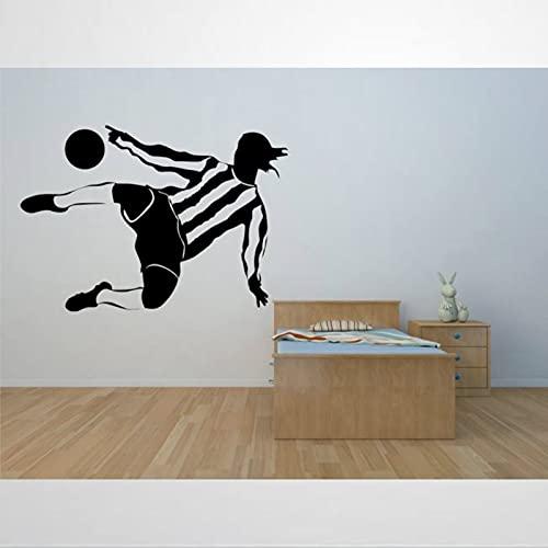 Calcomanía de jugador de fútbol extraíble para decoración de pared, decoración del hogar bm257