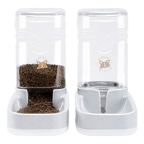 Old Tjikko Futterautomat Katze,Automatischer Futterspender & Wassertränker im Set für Kleintiere,Hund Schüssel,jeweils 3.8L PBA frei (Futterspender und Wasserspender)