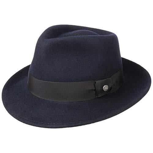 Lierys Sombrero de Fieltro - Sombrero de Fieltro de Lana Mujeres/Hombres - Impermeable y triturables - Sombrero de Bogart Verano/Invierno Azul XL (60-61 cm)