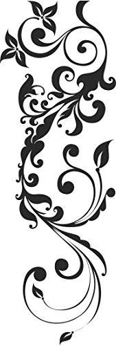 INDIGOS UG - Wandtattoo - Wandaufkleber - w439 Pflanze Blume Gewirr filigran Wandaufkleber 40x14cm, braun - Wandsticker für Kinderzimmer, Wohnzimmer, Bad, Dekoration, Schule, Büro, Hotel