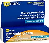 Sunmark Antibiotic Cream Plus Pain Relief - 0.5 oz, Pack of 5