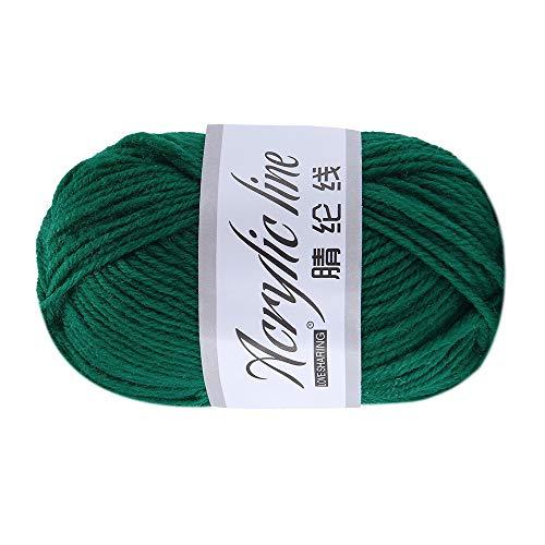 Xisimei Premium Lana de lana 100% acrílico, fácil de procesar, versátil, cálida, suave, no pica, 50 g, aprox. 140 m, antracita, multicolor (F)