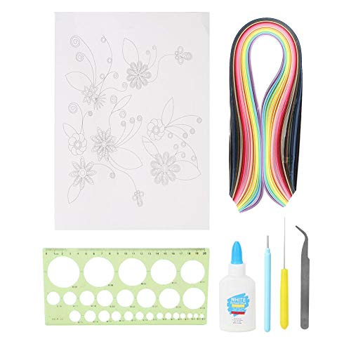 Quilling Papier Kit DIY Handcraft Decoratie Gereedschap Sets voor beginners Inbegrepen liniaal Pincet Lijm Pen Karton