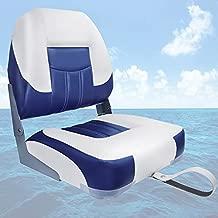 ofyou 2021 New Low Back Folding Boat Seat (White/Blue(1 seat))