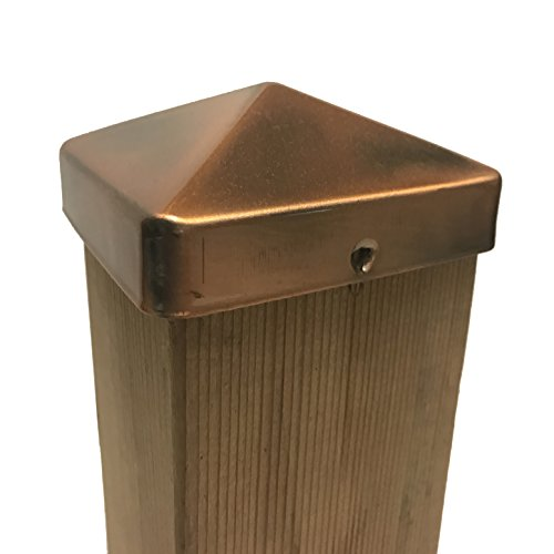 Nuvo Iron US Eazy Cap for 3.5' x 3.5' Posts (Pressure Fit) - Copper Plated - US-PCP21CV