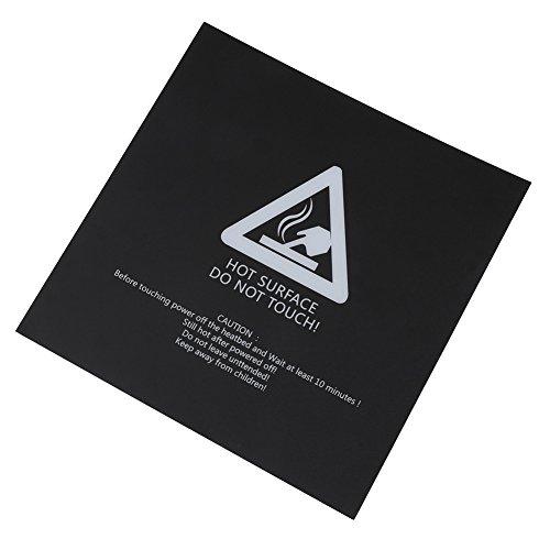 5Pcs 220x220mm 3D Dauerdruckplatte, Drucken von Beheizten Bettplatten 3D-Druckerteilen mit Oberflächen-Frosting Behandlung für PLA, ABS und HIPS-Verbrauchsmaterialien