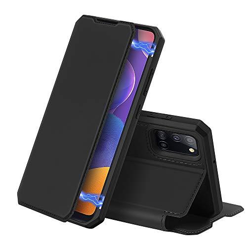 DUX DUCIS Hülle für Samsung Galaxy A31, Premium Leder Magnetic Closure Flip Schutzhülle handyhülle für Samsung Galaxy A31 Tasche (Schwarz)