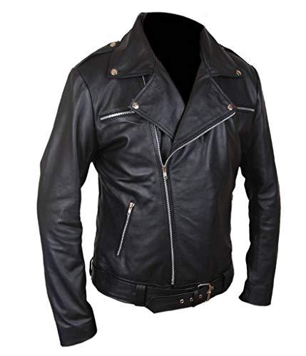 F&H Men's The Walking Dead Negan Genuine Leather Jacket 2XL Black