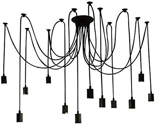 Hanglamp Industriële Plafond Lamp DIY Retro E26 Edison Lamp Ophangende Kroonluchter Lichten Hoofd Verstelbare Moderne Moderne Moderne Chic Hanglamp voor Slaapkamers Dineren Kamers