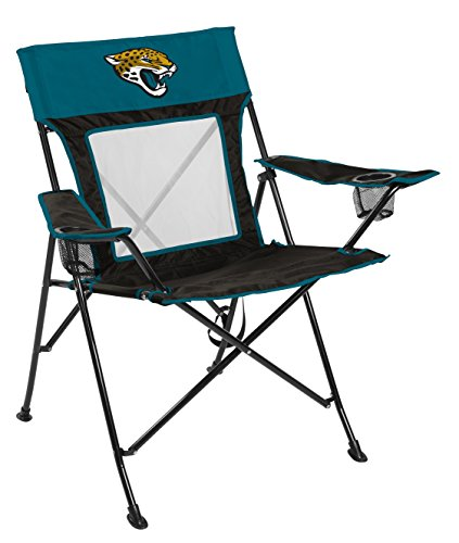Rawlings NFL Game Changer Large Folding Tailgating and Camping Chair, with Carrying Case, Jacksonville Jaguars