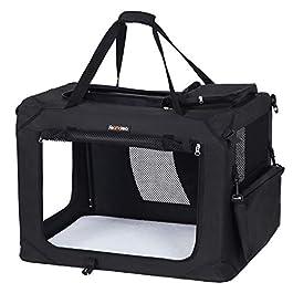 FEANDREA Dog Carrier Folding Fabric Pet Carrier Lightweight Pet Cage Transport Bag