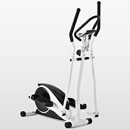 Homeluck Crosstrainer Ellittie Cyclette con controllo tramite app Bluetooth, sensore del polso da 10 kg, schermo LCD e supporto per cellulare