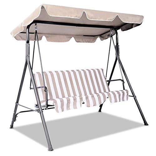 Viner zomer waterdichte bovenkap luifel vervanging voor tuin binnenplaats buiten schommelstoel hangmat luifel schommelstoel luifel, beige 195X109
