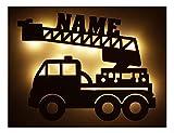 Schlummerlicht24 Led Feuerwehr Wagen - Feuerwehrauto Auto