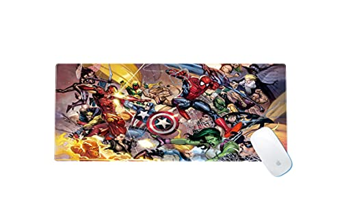 Paddiy Marvel Civil War Large Gaming Mouse Pad Waterproof Non-Slip Keyboard Pad with Rubber Base Great for Laptop Computer 11.8x23.6x0.12 Inches, X-Large
