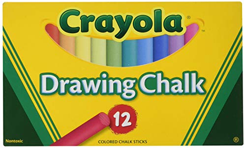Crayola Non-Toxic Chalkboard Chalk (510403), Assorted