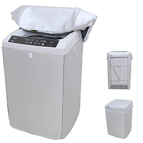 "Portable Washing Machine Cover,Top Load Washer Dryer Cover,Waterproof Full-Automatic/Wheel Washing Machine Cover(22""22""35""inches Middle)"