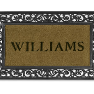 Personalized Rubber Scroll & Coir Doormats | Williams Sonoma