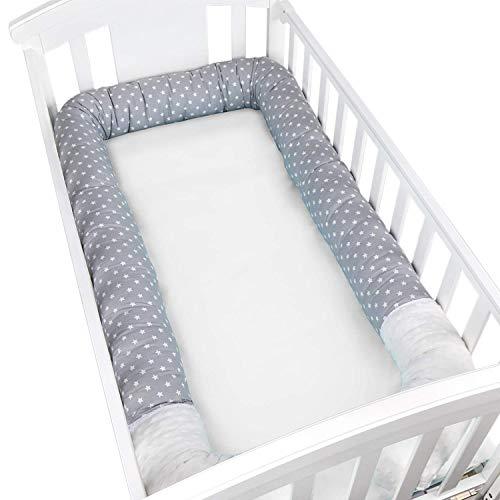 2M, Azul Oyfel Protector Cuna Bebe Trenza 2M//3M Parachoques Cuna 3 trenzada Protector de Cabeza para Cuna Bebe Protector Cama Bebe