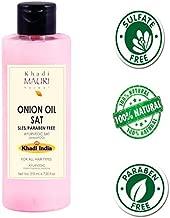Khadi Mauri Herbal Onion Oil Shampoo - Thickens & Strengthens Hair - SLES & PARABEN FREE - Enriched with Amla & Keratin - 210 ml