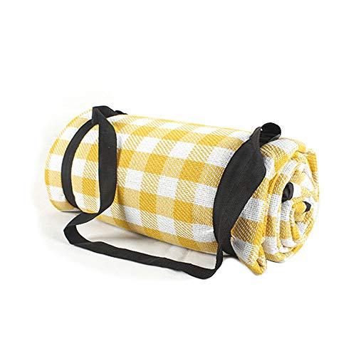 TENGXI Alfombra Manta de Picnic, 150 x 200 cm Portátil Alfombrilla Colchón Impermeable Plegable con Asa para Acampar Camping Playa Jardín Senderismo Deportes Viaje