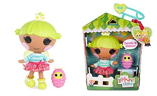 Lalaloopsy Littles Doll Twinkle N. Flutters con Luciérnaga-Muñeca Hada de 18cm con Vestido Rosa y Azul y Zapatos Removibles-Caja Reutilizable como casa-Edad 3-103 años, Multicolor (577324C3)