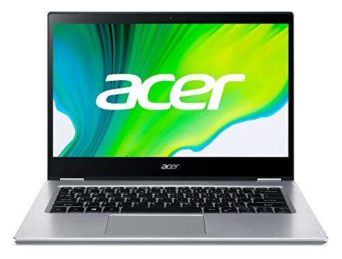 Acer Spin 3 (SP314-21-R9M1) 35,56 cm (14 Zoll Full-HD Multi-Touch) Convertible Laptop (AMD Ryzen 3 3250U, 8GB RAM, 256GB PCIe SSD, AMD Radeon Graphics, Windows 10 Home im S Modus) silber