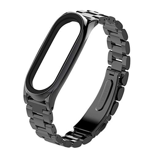SANFASHION Fitness Armband Edelstahl Armband Ersatz Armbanduhrband für Xiaomi Mi Band by