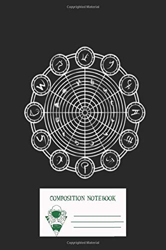 Composition Notebook: Mystic Circles Zodiac House Workbook for Adult