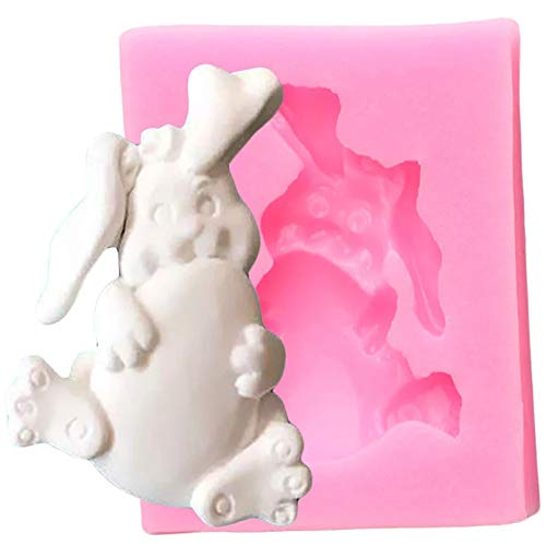 CSCZL Easter Rabbit Eggs Silicone Mold Cookie Baking Candy Clay Chocolate Gumpaste Molds Cupcake Topper Fondant Cake Decorating Tools