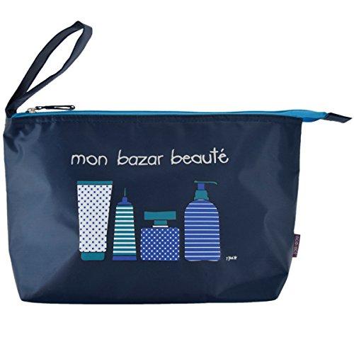 Incidence Paris 61873 Blue Basics Trousse de Toilette, 24 cm, Bleu