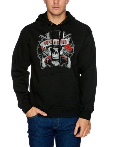 Bravado - Sweat-shirt Homme Guns N Roses Distressed Skull - Noir (Black) - Small