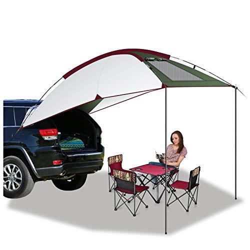 Buycitky Auvent de Voiture, 2.4X1.9m Tente Auvent Camping Car, Tente Toit Voiture étanche et Résistante aux UV, Tente de Camping Durable Auvent Fourgon