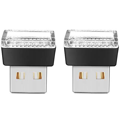 BukNikis USB Car LED Atmosphere Lights Mini LED Ambient Kit Car Accessories Lighting Universal (Red, 2 PCS)