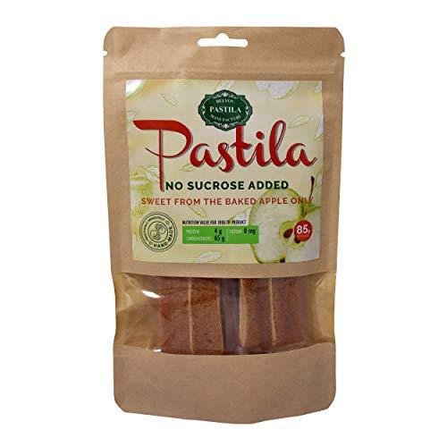 Belyov Pastila 85 g. - in Scheiben geschnitten - ein köstliches Dessert mit minimalem Zuckergehalt, das Sie essen können, ohne Ihre Figur zu schädigen. Enthält viel Vitamin E und C