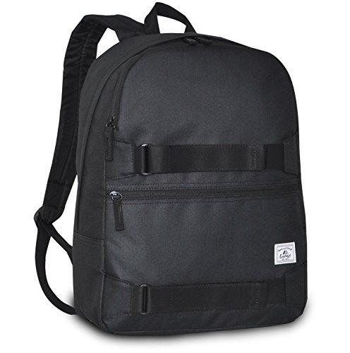 Everest Griptape Skateboard Backpack, Black, One Size