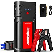 #LightningDeal DBPOWER 2500A/21800mAh Portable Car Jump Starter- UP to 8.0L Gasoline/6.5L Diesel Engines, 12V Auto Lithium-Ion Battery Booster, Power Pack with LCD Screen Clamp Cables, LED Flashlight