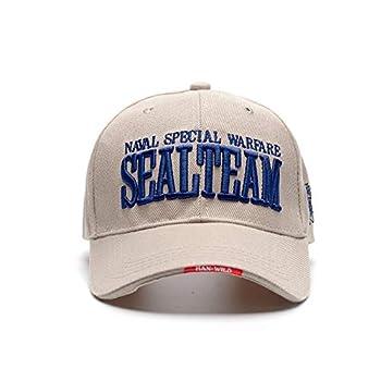 VIIMON 2019 Nouvelle US Navy Seal Team Tactical Caps Hommes Armée Casquette de Baseball Gorras Réglable Os Snapback Chapeau en Plein Air Golf Chapeaux (Color : Beige)