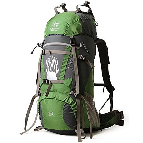 Zaino da Alpinismo Zaino multifunzione Zaino Trekking Impermeabile Trekking Zaino Donna Uomo Unisex Viaggio Montagna Outdoor Zaino da Trekking Campeggio Alpinismo Super leggero e pieghevole,60L,50L