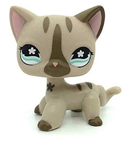 HMQ Juguete Pet Shop Leopard Pussy Tiger Cat Kitten Kitty Green Eyes Collection Juguetes para ni?os Cumplea?os Chirstmas Gift