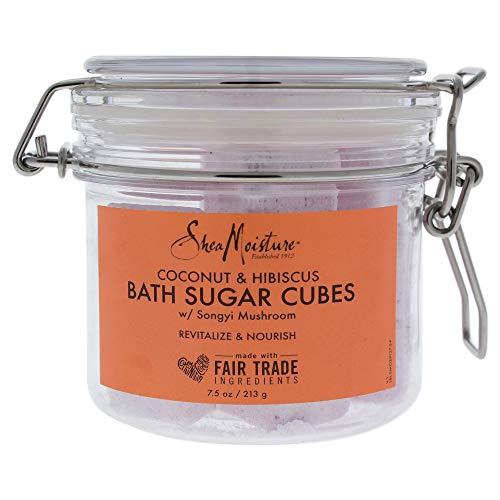 Shea Moisture Coconut and Hibiscus Bath Sugar Cubes for Unisex, 7.5 Ounce