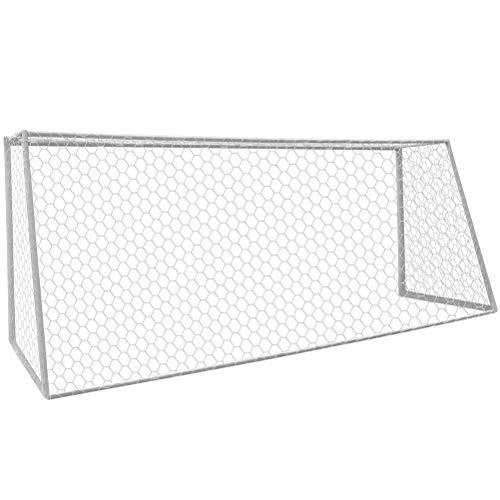 Aoneky Rete da Calcio Regolamentare 7,3 x 2,4M / 3 x 2M - Diametro 4mm - Solo Rete - Senza Cornice Pali (3 x 2M)
