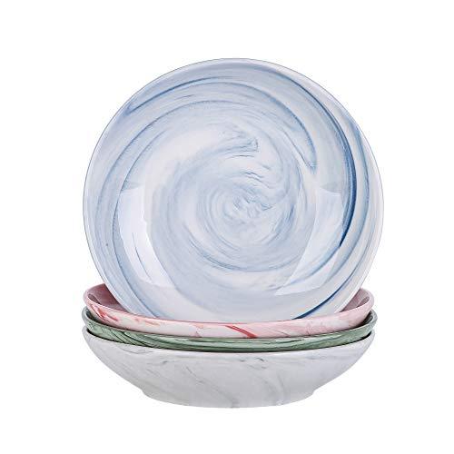 Vancasso Suppenteller Porzellan, Chloe 4 teilig Tiefteller Ø 21,5cm, Suppenschale 700ml Salat-Teller Set, BUNT